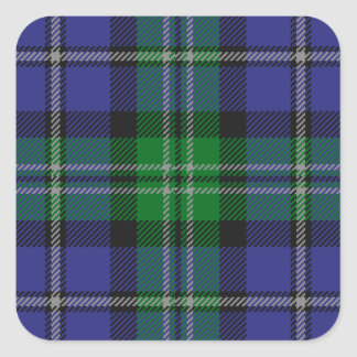Louisiana_state_tartan Square Sticker