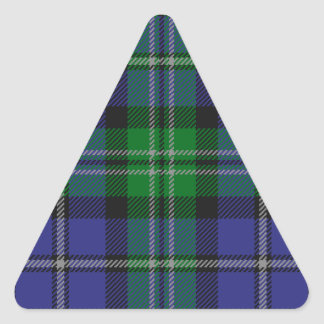 Louisiana_state_tartan Triangle Sticker