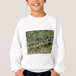 Louisiana Swamp Alligator in Jean Lafitte Close Up Sweatshirt