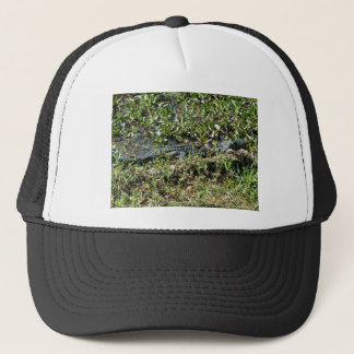 Louisiana Swamp Alligator in Jean Lafitte Close Up Trucker Hat
