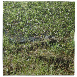 Louisiana Swamp Alligator in Jean Lafitte Printed Napkin