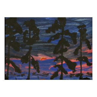 Louisiana Swamp at Sunset Poster