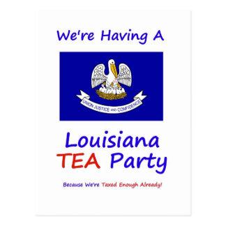 Louisiana TEA Party - We're Taxed Enough Already! Postcard