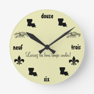 Louisiana Themed Cajun French Clock