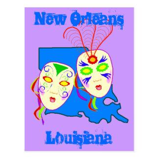 Louisiana Travel Promote promo Postcard Mardi Gras