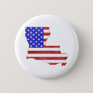 Louisiana USA silhouette state map 2 Inch Round Button