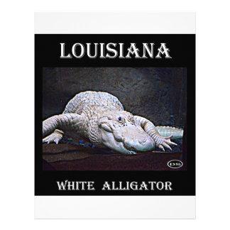 Louisiana White Alligator New Customized Letterhead