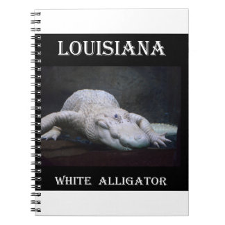 Louisiana White Alligator New Spiral Notebook