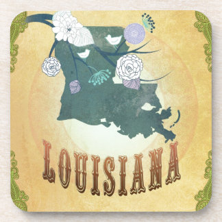 Louisiana With Lovely Birds Drink Coasters