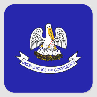 Louisianan Flag Square Sticker