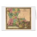 LouisianaPanoramic MapLouisiana Greeting Card