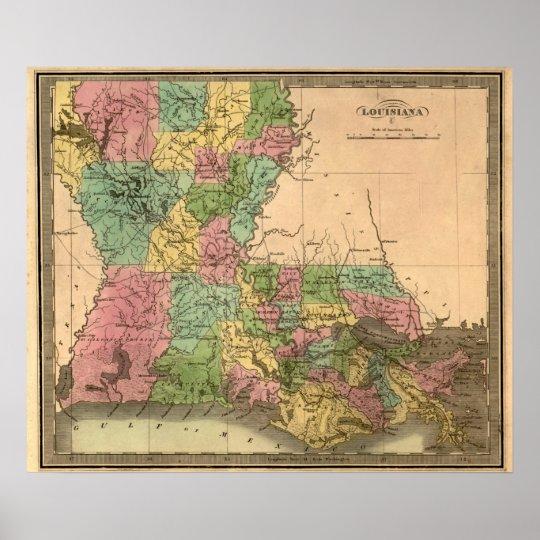 LouisianaPanoramic MapLouisiana Poster