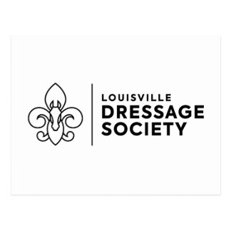 Louisville Dressage Society logo Postcard