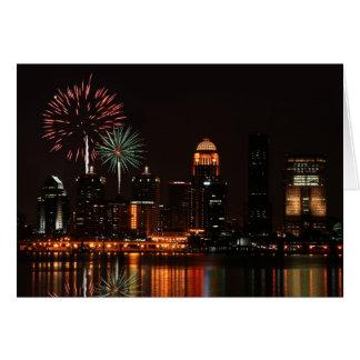 Louisville fireworks card