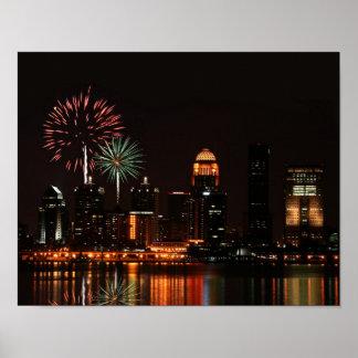 Louisville fireworks poster