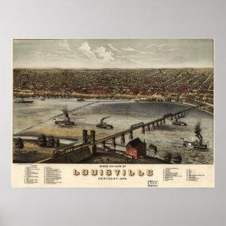 Louisville, Kentucky - 1876 (Ruger) BigMapBlog.com Poster