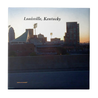 """LOUISVILLE, KENTUCKY CITY SKYLIN""E CERAMIC TILE"" TILE"