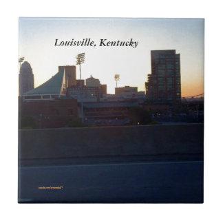 """""""LOUISVILLE, KENTUCKY CITY SKYLIN""""E CERAMIC TILE"""" TILES"""