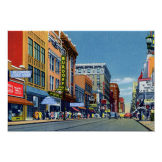 Louisville Kentucky Fourth Avenue looking North Poster