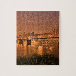 Louisville Kentucky Night Lights Bridge Ohio River Jigsaw Puzzle