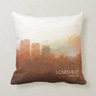Louisville, Kentucky Skyline-In the Clouds Throw Pillow