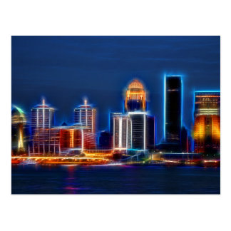 Louisville Ky Skyline Postcard