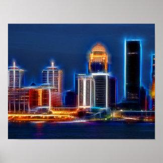 Louisville Ky skyline Poster