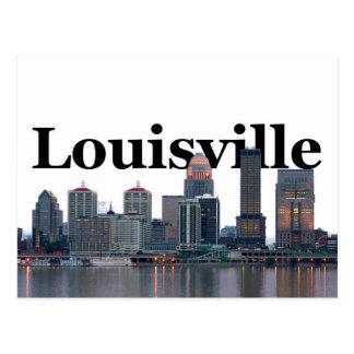 Louisville KY Skyline with Louisville in the Sky Postcard