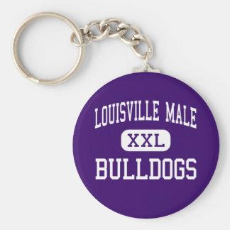 Louisville Male - Bulldogs - High - Louisville Basic Round Button Keychain