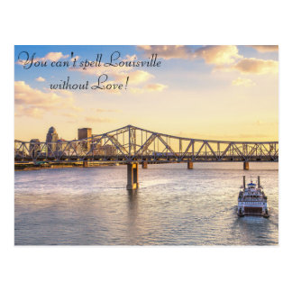 Louisville Skyline and the Belle Postcard