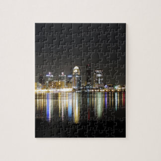 Louisville skyline at night jigsaw puzzle