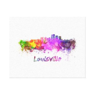 Louisville skyline in watercolor canvas print