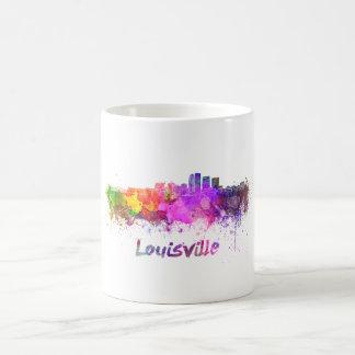 Louisville skyline in watercolor coffee mug