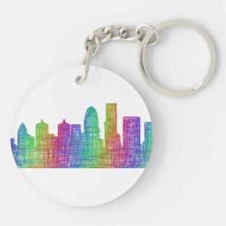 Louisville skyline keychain