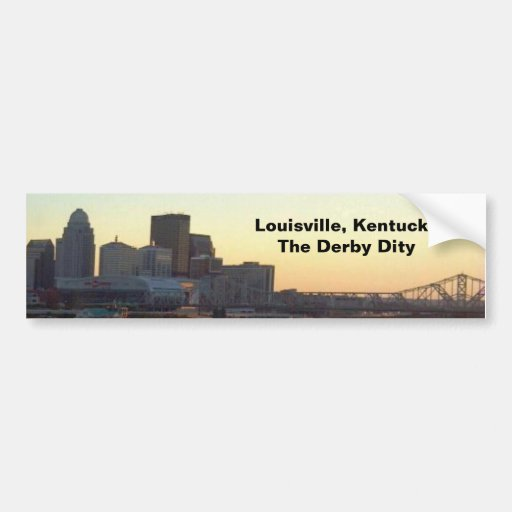 LOUISVILLE SKYLINE VIEW 1 BUMPER STICKER