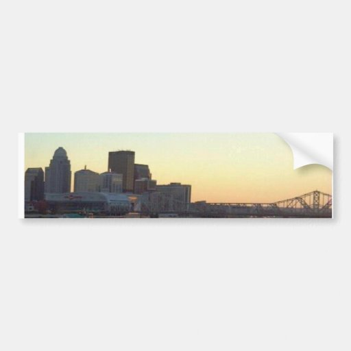 LOUISVILLE SKYLINE VIEW 1 BUMPER STICKERS