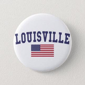 Louisville US Flag 2 Inch Round Button