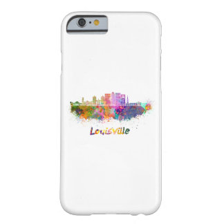 Louisville V2 skyline in watercolor Barely There iPhone 6 Case