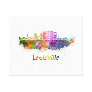 Louisville V2 skyline in watercolor Canvas Print