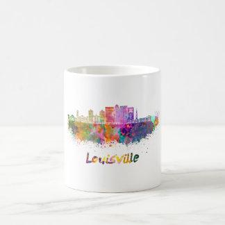 Louisville V2 skyline in watercolor Coffee Mug