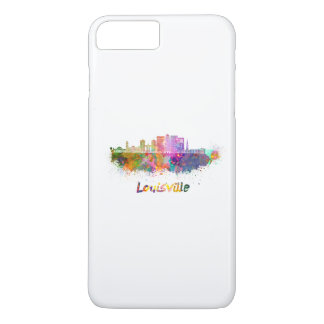 Louisville V2 skyline in watercolor iPhone 8 Plus/7 Plus Case