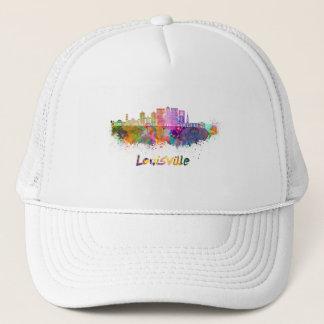 Louisville V2 skyline in watercolor Trucker Hat