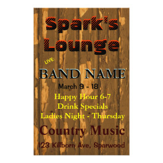 Lounge, Bar Tavern Live Music Full Colour Flyer