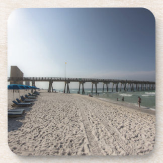 Lounge Chairs at Panama City Beach Pier Beverage Coasters