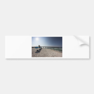Lounge Chairs at Panama City Beach Pier Bumper Sticker