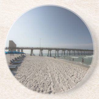 Lounge Chairs at Panama City Beach Pier Drink Coasters