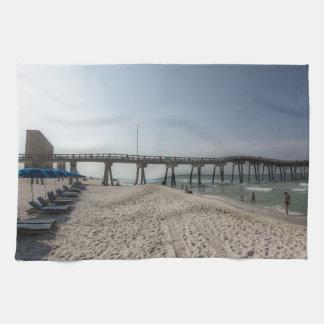Lounge Chairs at Panama City Beach Pier Hand Towel