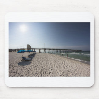 Lounge Chairs at Panama City Beach Pier Mouse Pad