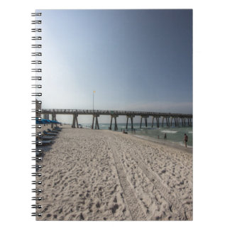 Lounge Chairs at Panama City Beach Pier Notebook