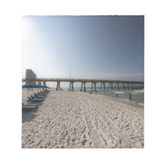 Lounge Chairs at Panama City Beach Pier Notepads